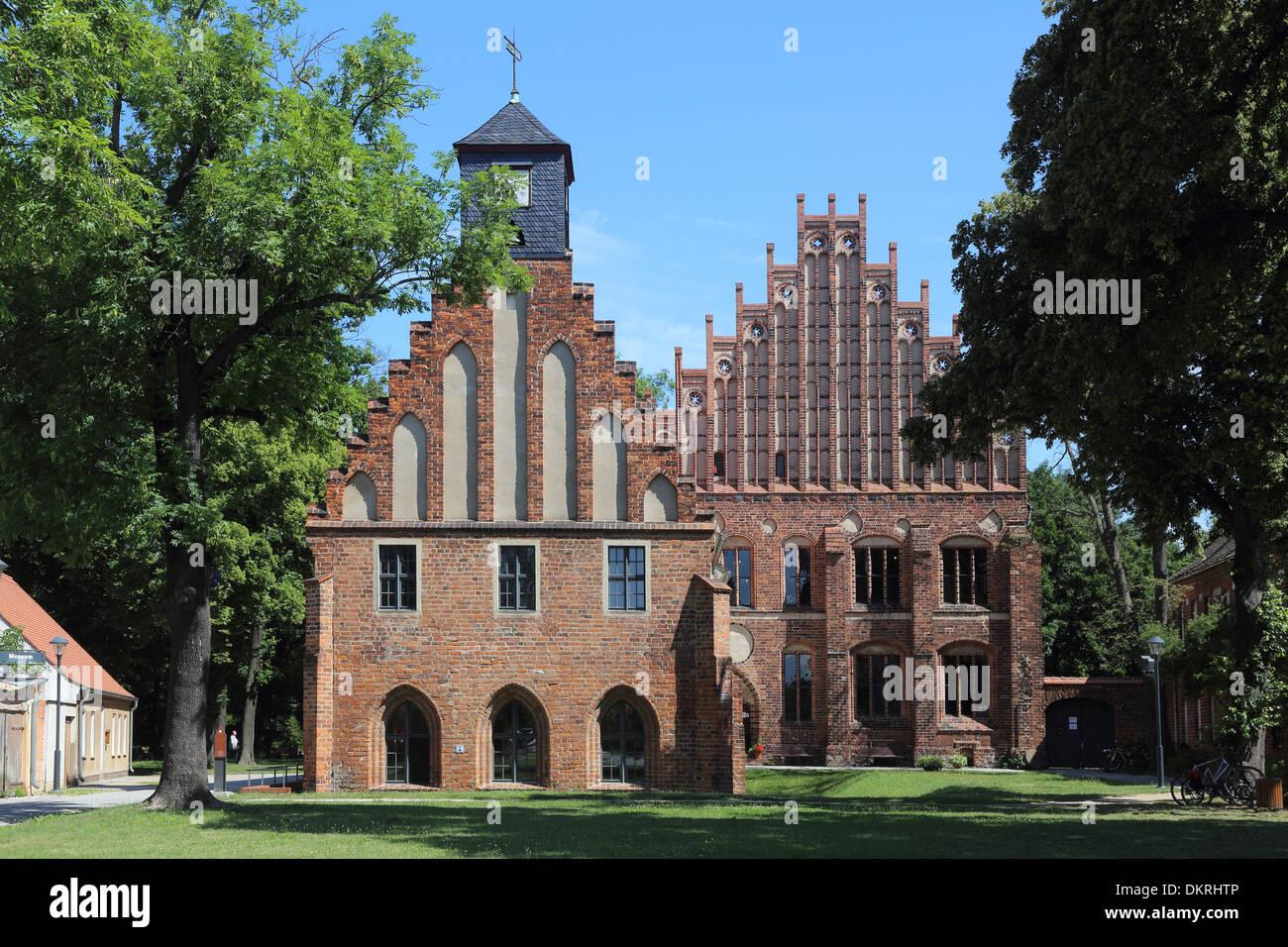 monastery cloister Zinna  Old and New Abbey Stock Photo
