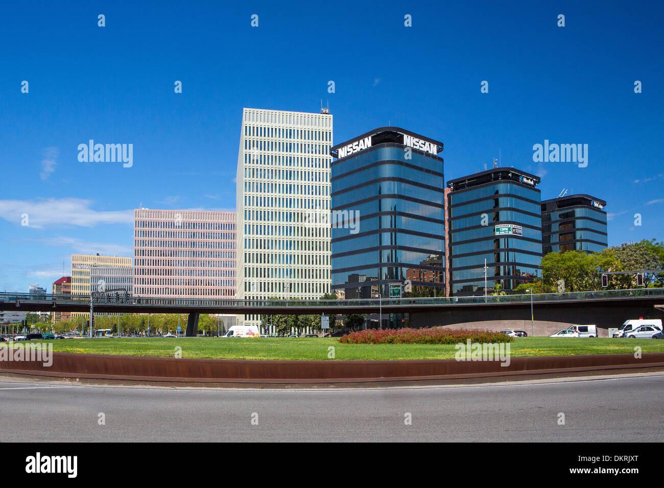 Cerda, Justice, architecture, Barcelona, building, Catalonia, city, new, Spain, Europe, square - Stock Image
