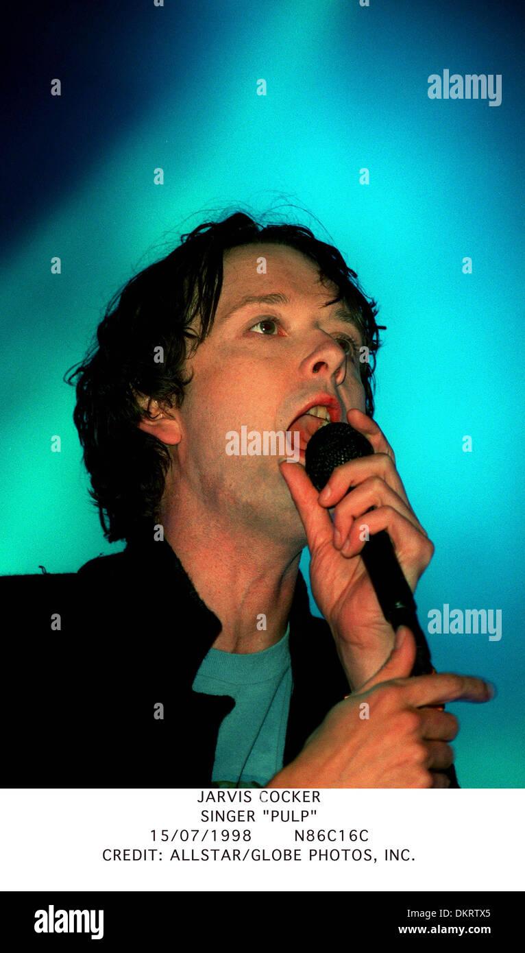 JARVIS COCKER.SINGER ''PULP''.15/07/1998.N86C16C. - Stock Image