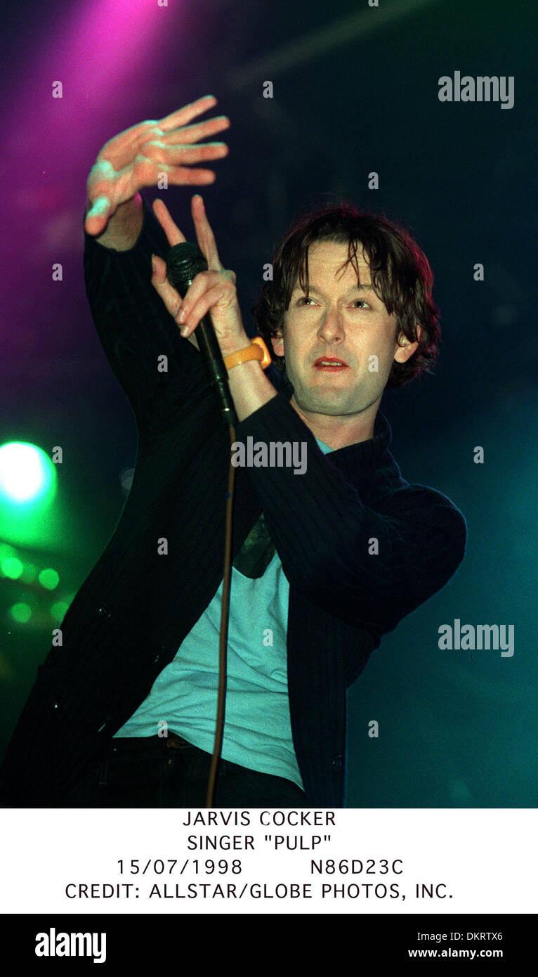 JARVIS COCKER.SINGER ''PULP''.15/07/1998.N86D23C. - Stock Image