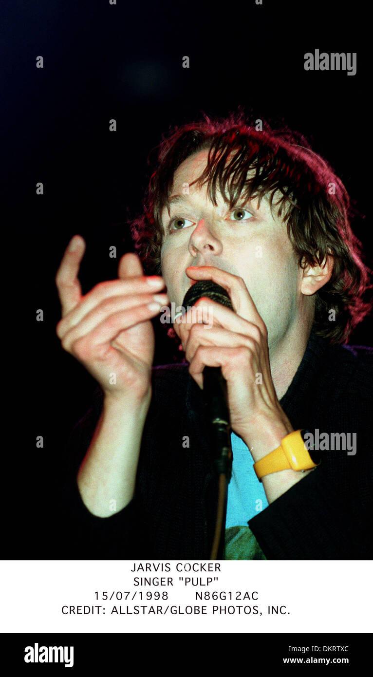 JARVIS COCKER.SINGER ''PULP''.15/07/1998.N86G12AC. - Stock Image