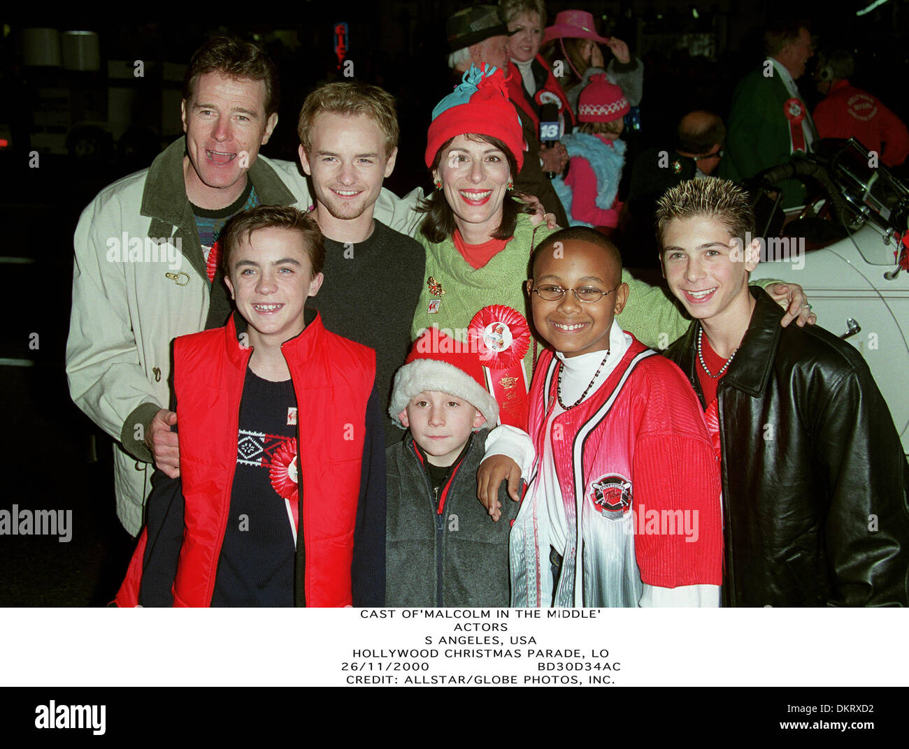 Malcolm In The Middle Christmas.Nov 26 2000 Hollywood Christmas Parade Lo Cast Of