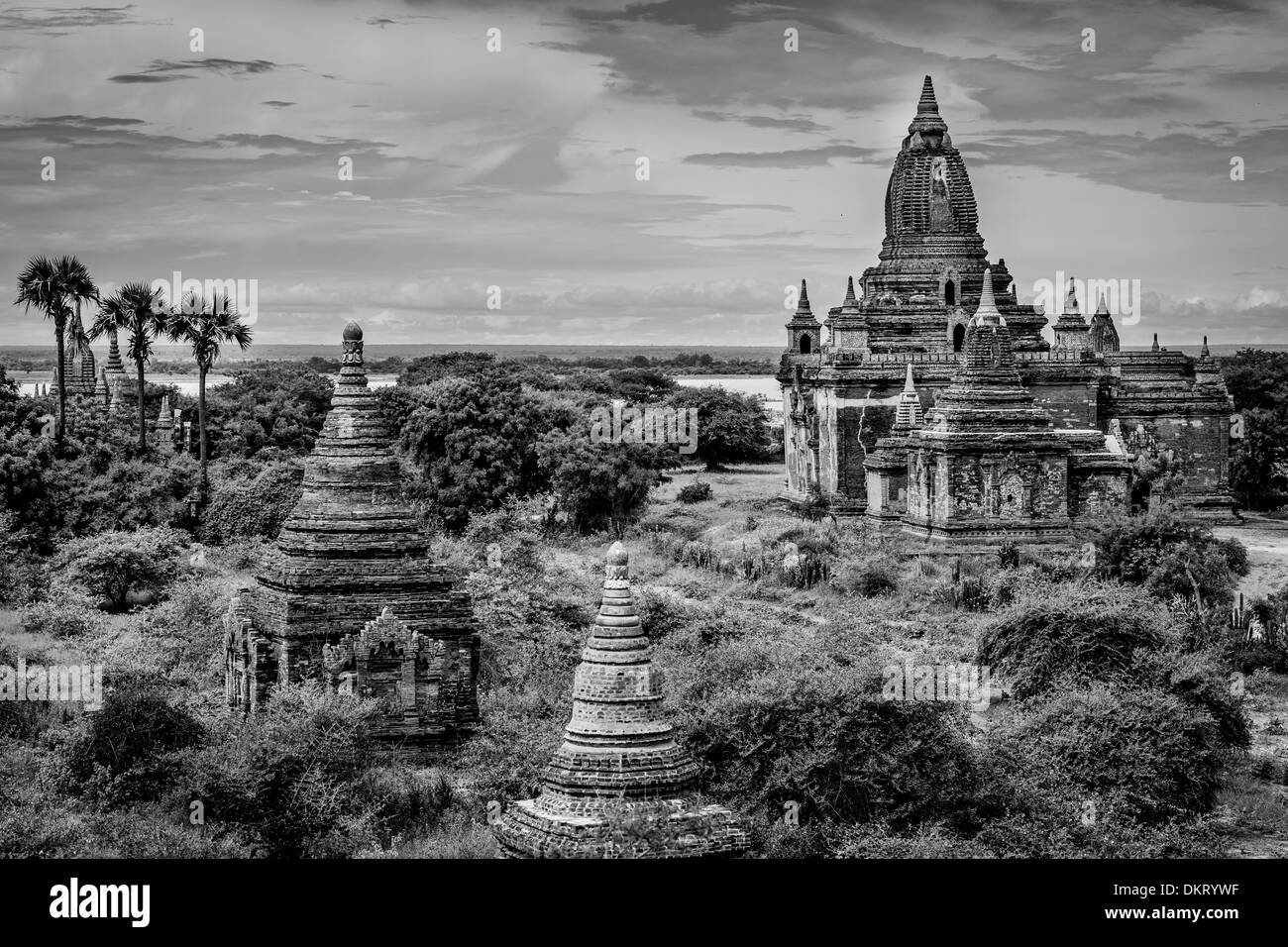 View of Temples, Bagan, Myanmar - Stock Image
