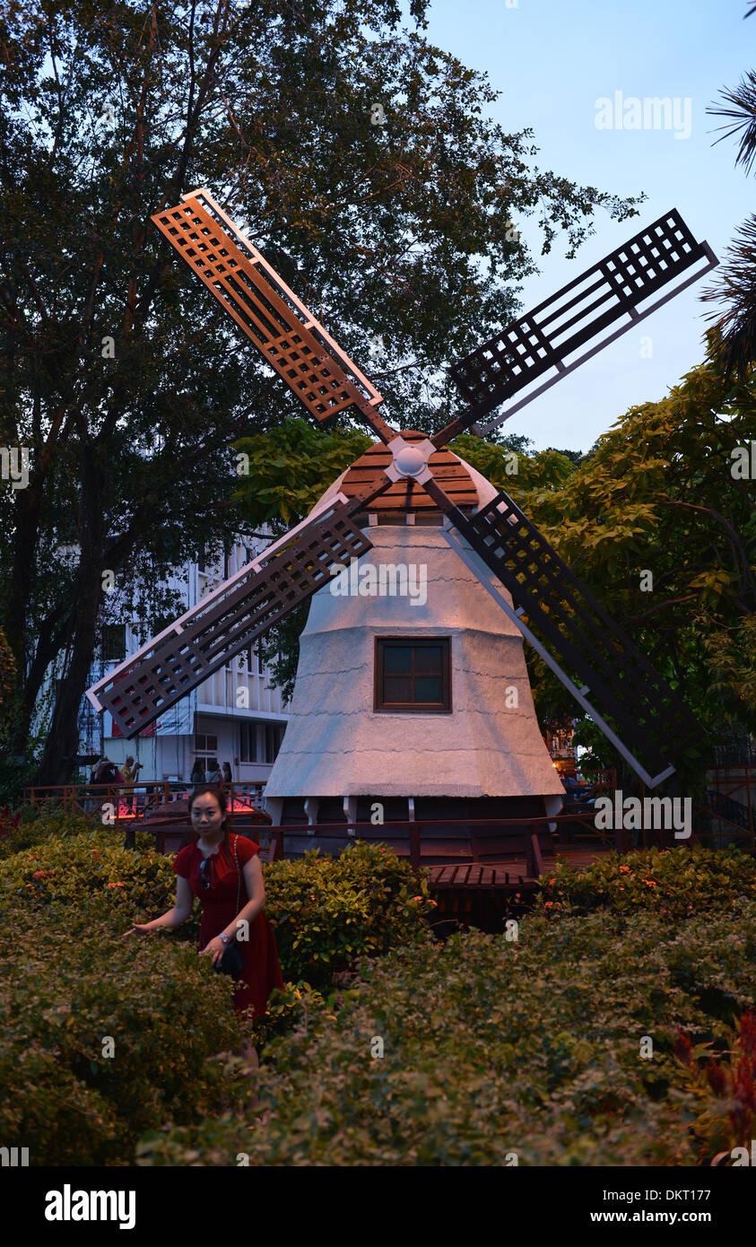 Hollaendische Windmuehle, Melaka, Malaysia / Holländische, Windmühle - Stock Image
