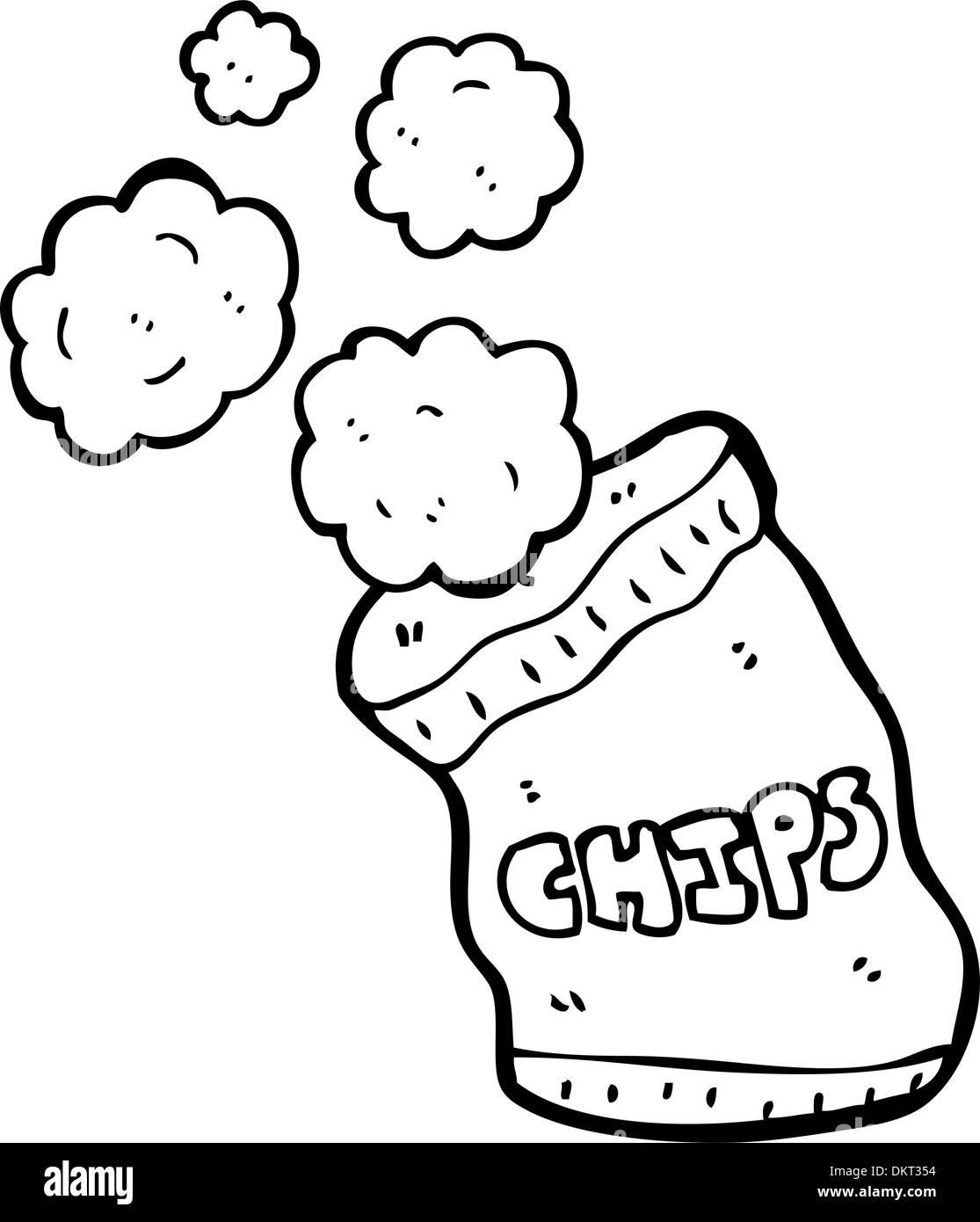 cartoon potato chips - Stock Image