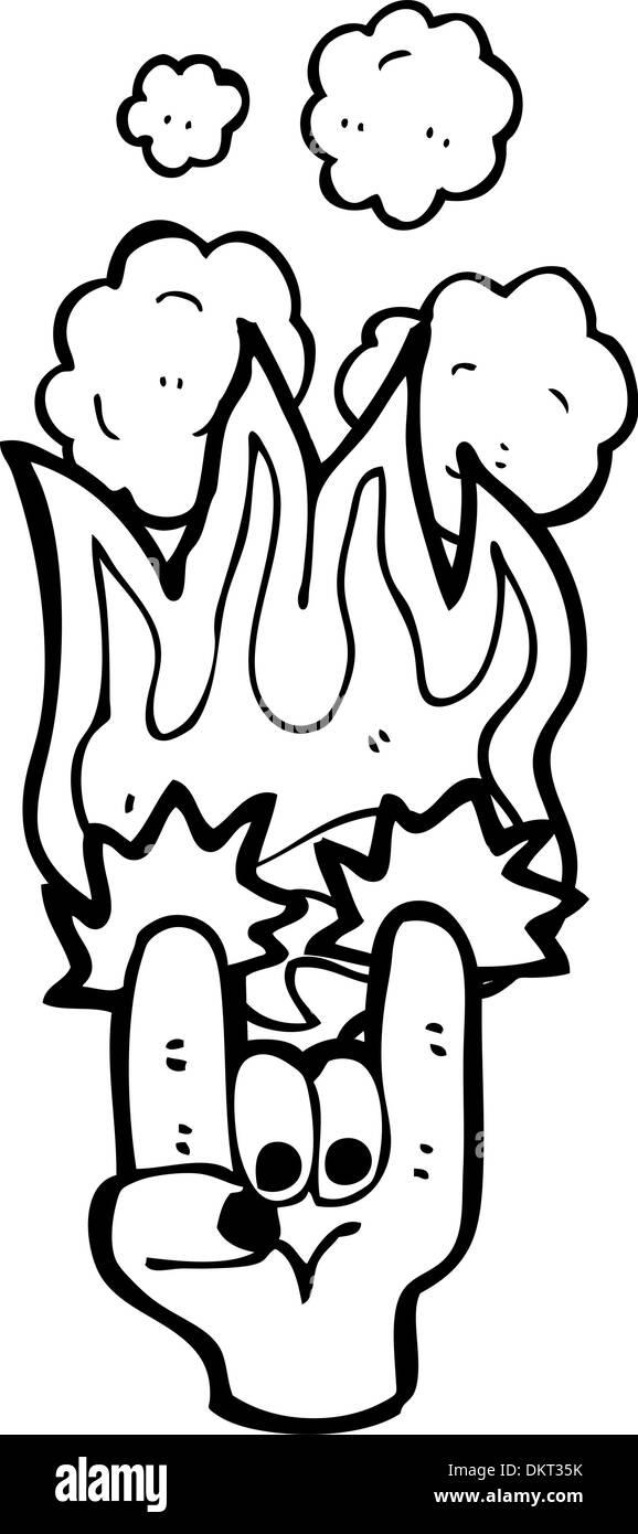 Rock Devil Horns Hand Symbol Stock Vector Art Illustration Vector