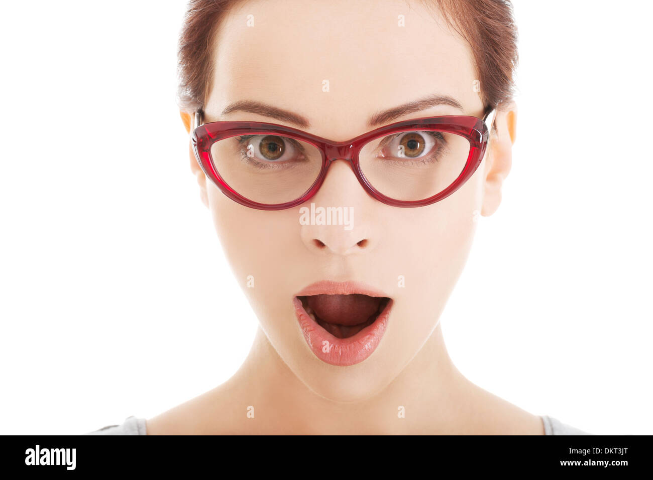 da8e8cceac5 Emotions Astonishment Surprised Young Woman Stock Photos   Emotions ...