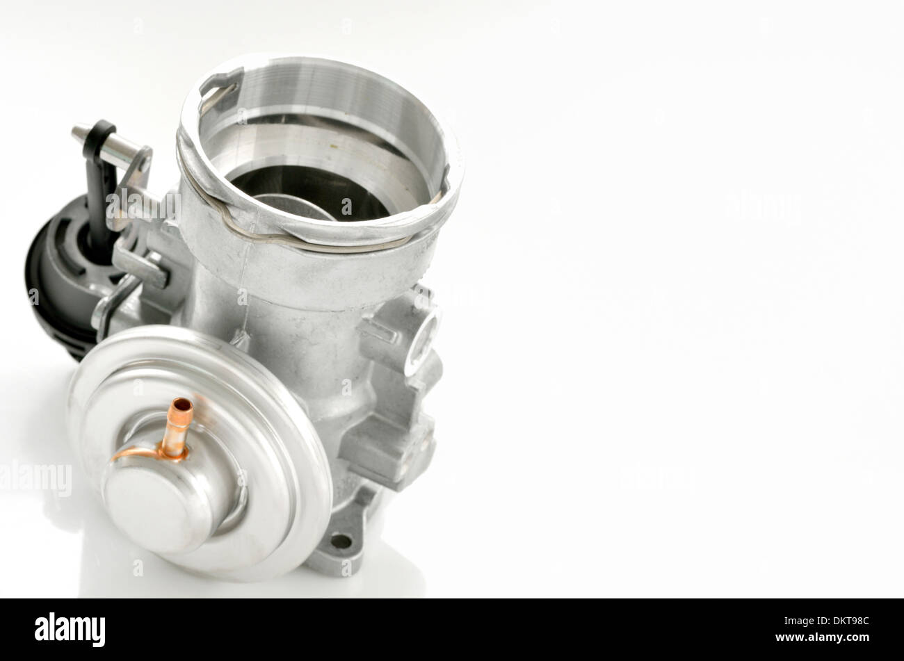 details of throttle isolated on white background Stock Photo