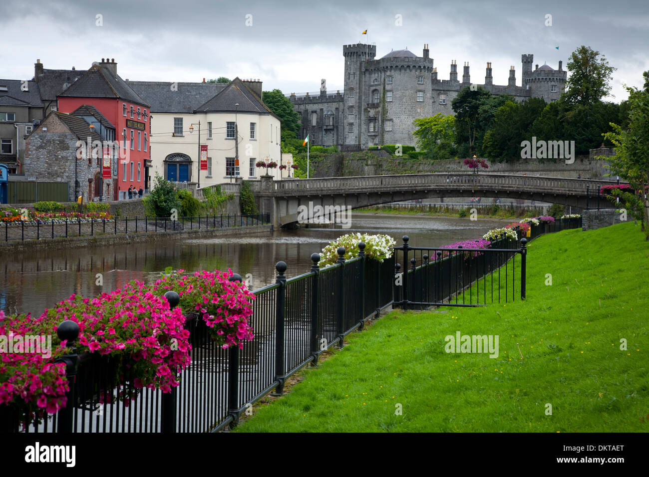 Castle and Nore river. - Stock Image