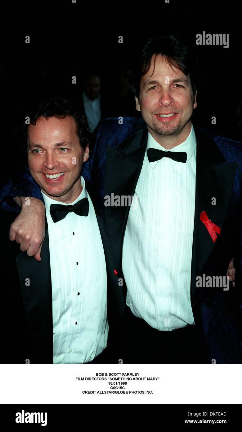 Jan. 15, 1999 - BOB & SCOTT FARRLEY.FILM DIRECTORS ''SOMETHING ABOUT MARY''.15/01/1999.Q6C15C.CREDIT (Credit Image: © Globe Photos/ZUMAPRESS.com) - Stock Image