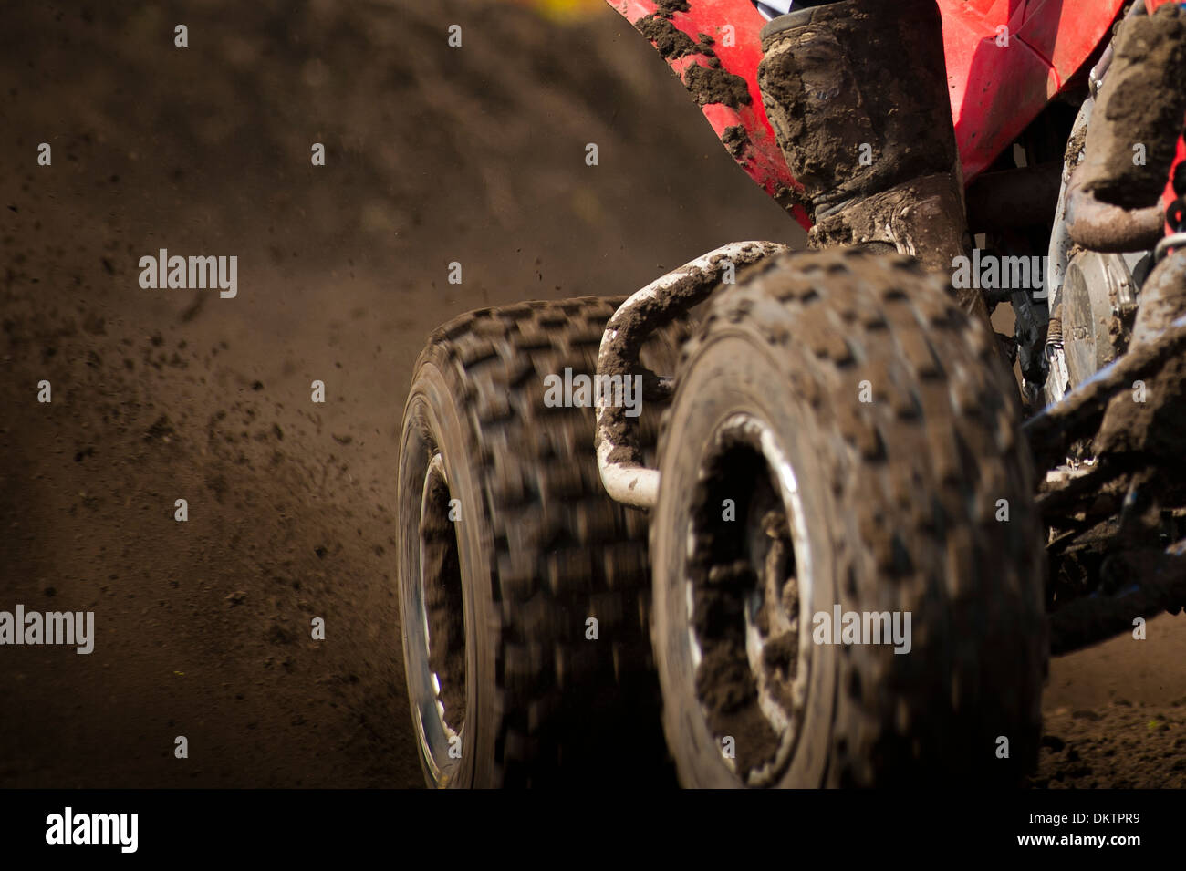 Dirt bike in mud - Stock Image