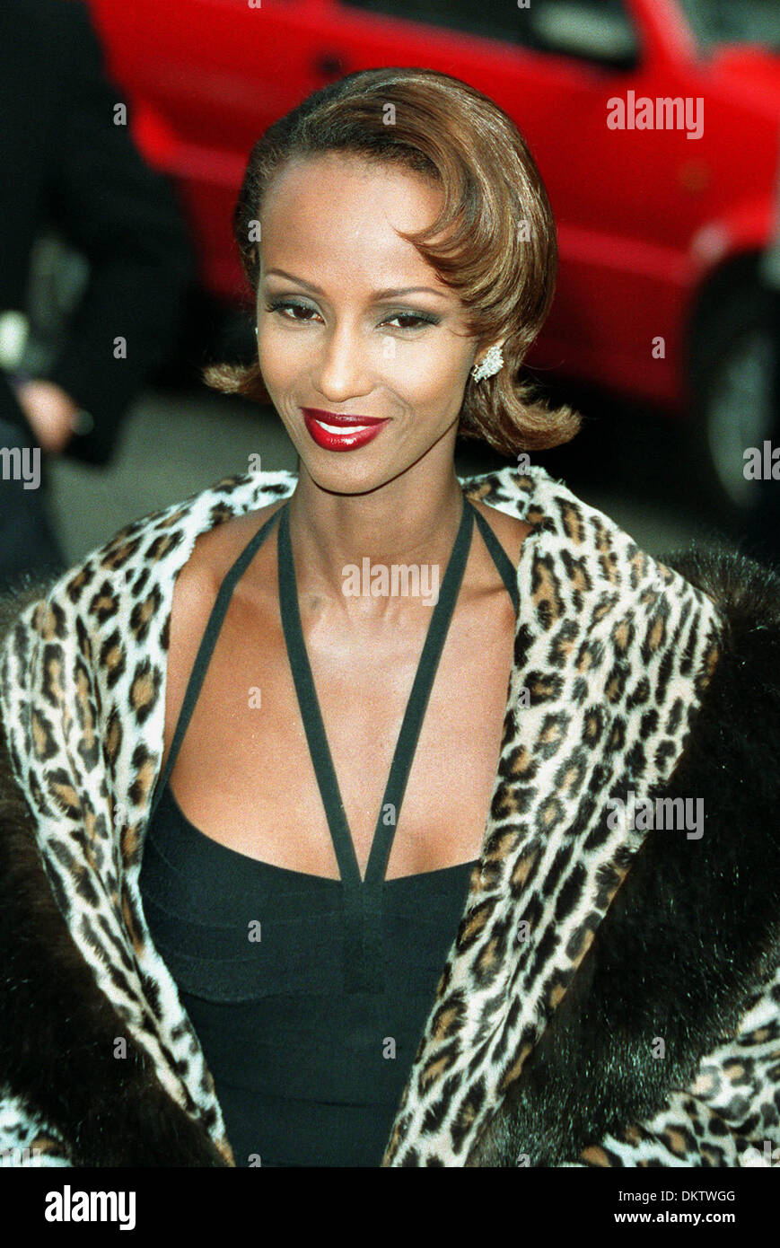 iman model 21 04 1995 f8a8c stock photo 63856480 alamy