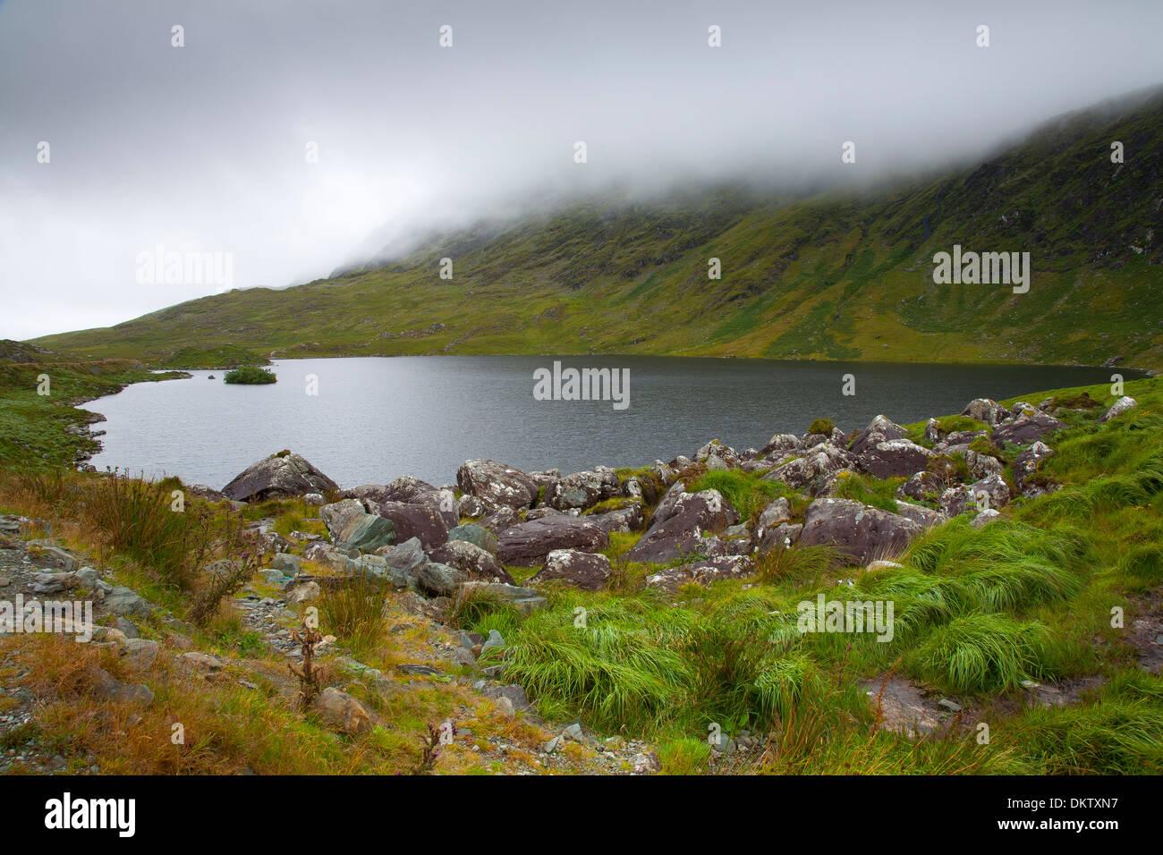 Barfinnihy Lake. Ring of Kerry County Kerry, Ireland, Europe. - Stock Image