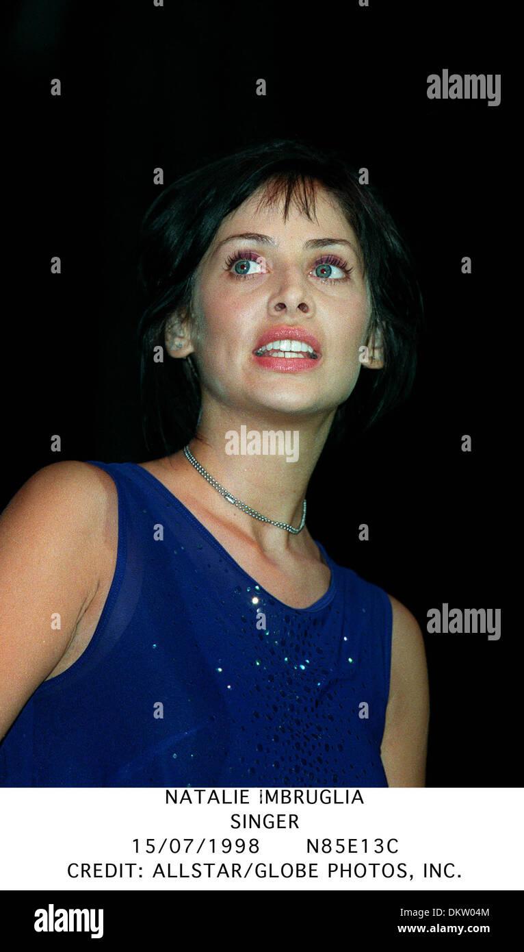 NATALIE IMBRUGLIA.SINGER.15/07/1998.N85E13C. - Stock Image