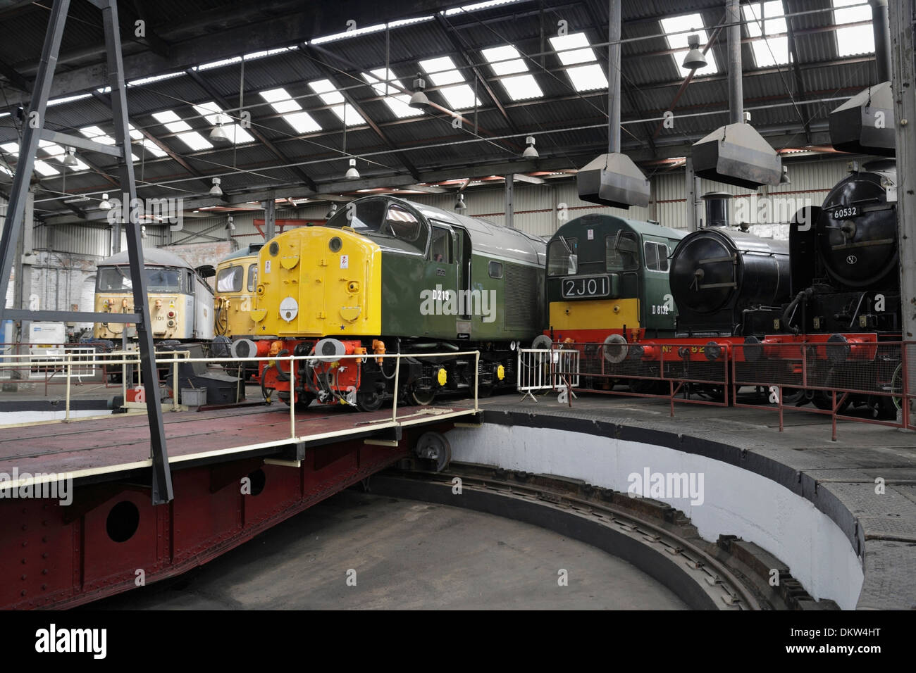 Barrow Hill Railway Engine shed Preserved Locomotives - Stock Image