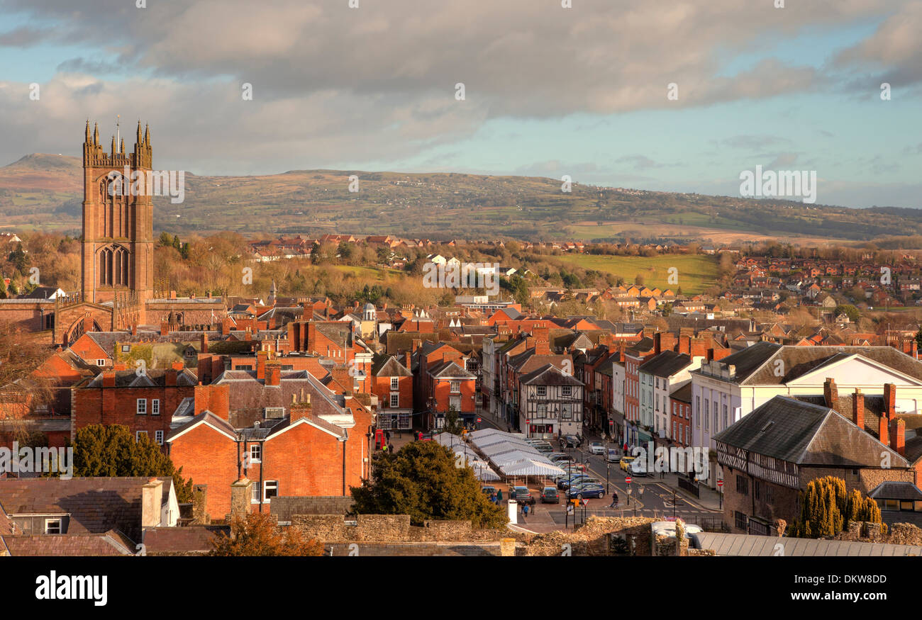 The historic market town of Ludlow, Shropshire, England. - Stock Image