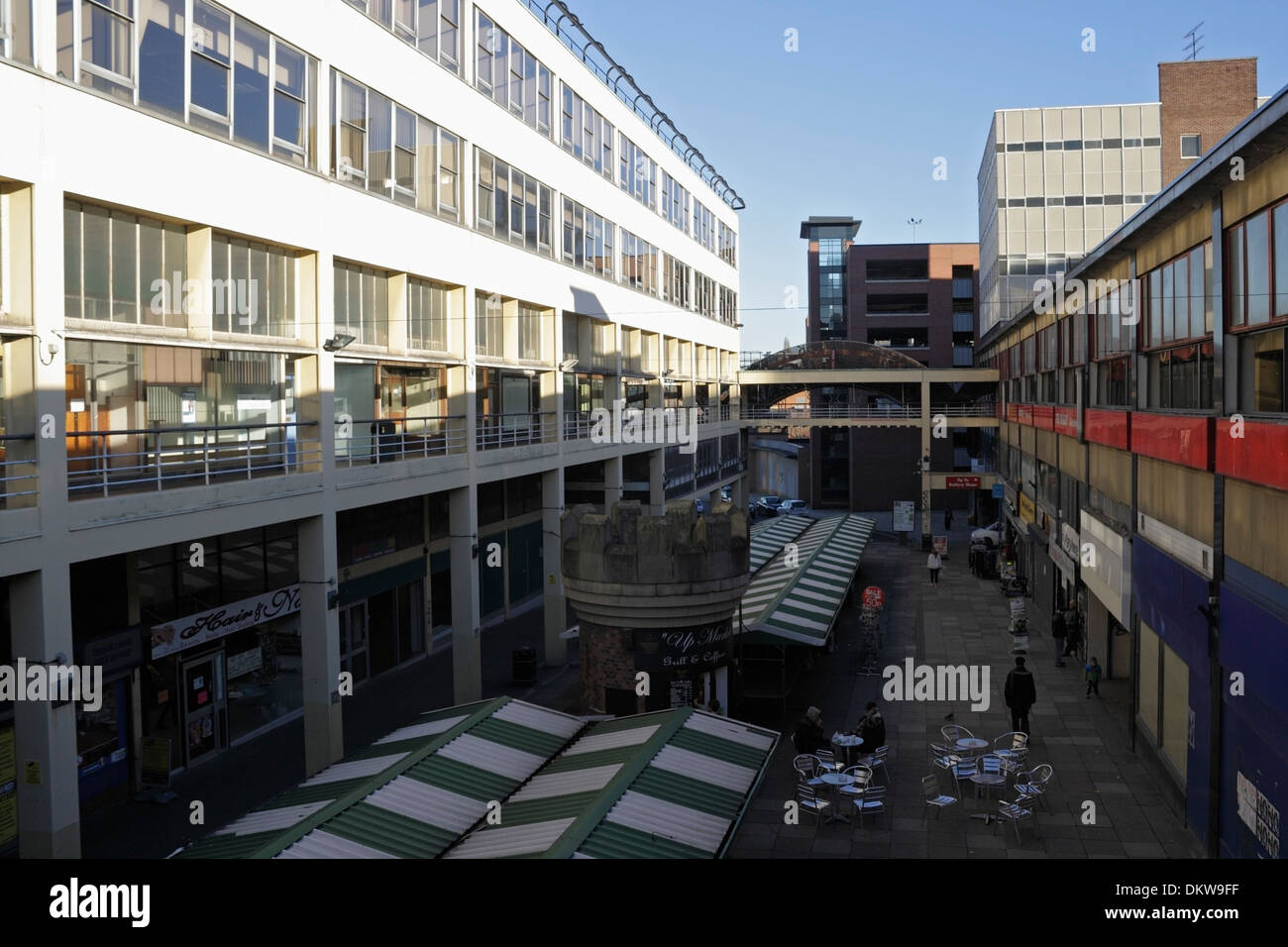 Exchange Street, Haymarket in Sheffield looking run down, now demolished - Stock Image