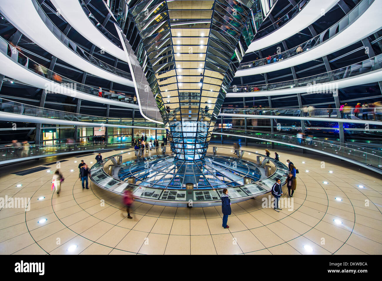 Reichstag Glass Dome in Berlin, Germany. - Stock Image