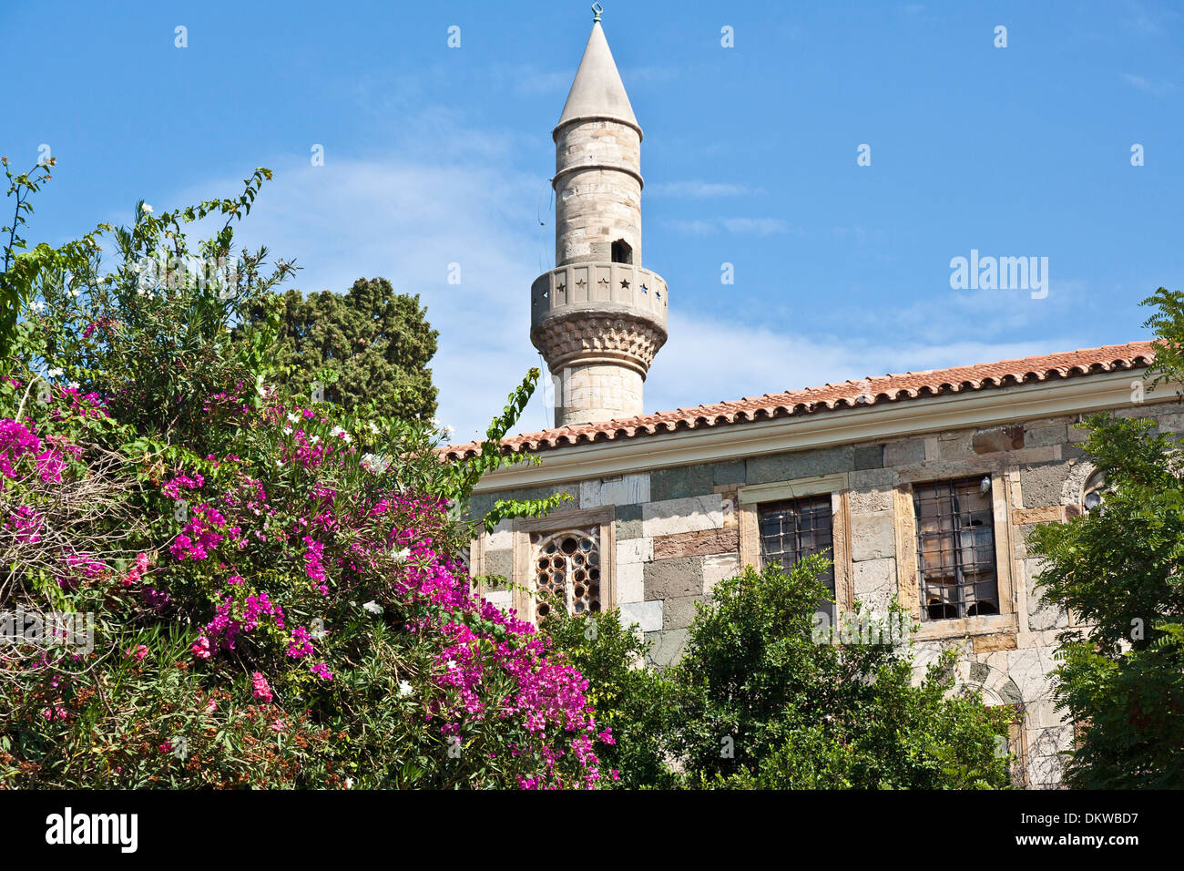 Kos Agora archeology excavation excavation site Greece Europe Hadij-Hassan mosque port island Islam Wall Walls Sea - Stock Image