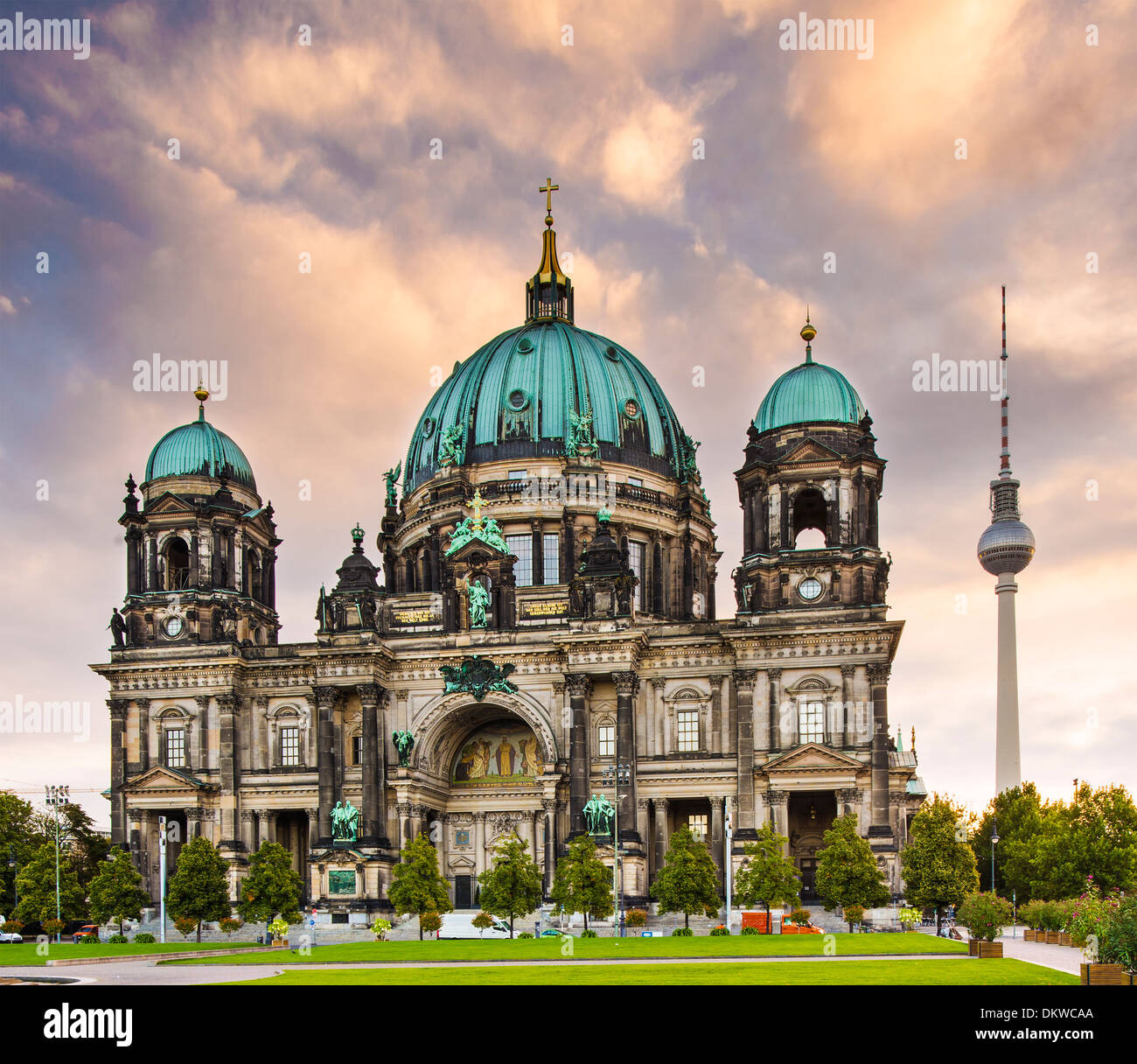 Cathedral of Berlin, Germany. - Stock Image