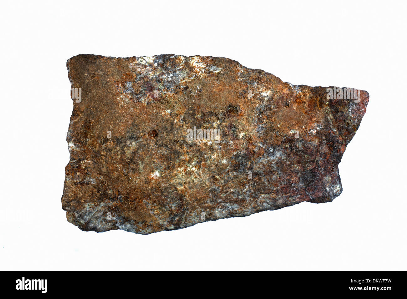Fragment of black smoker chimney from deep sea ocean vent, composed of sulfide minerals - Stock Image