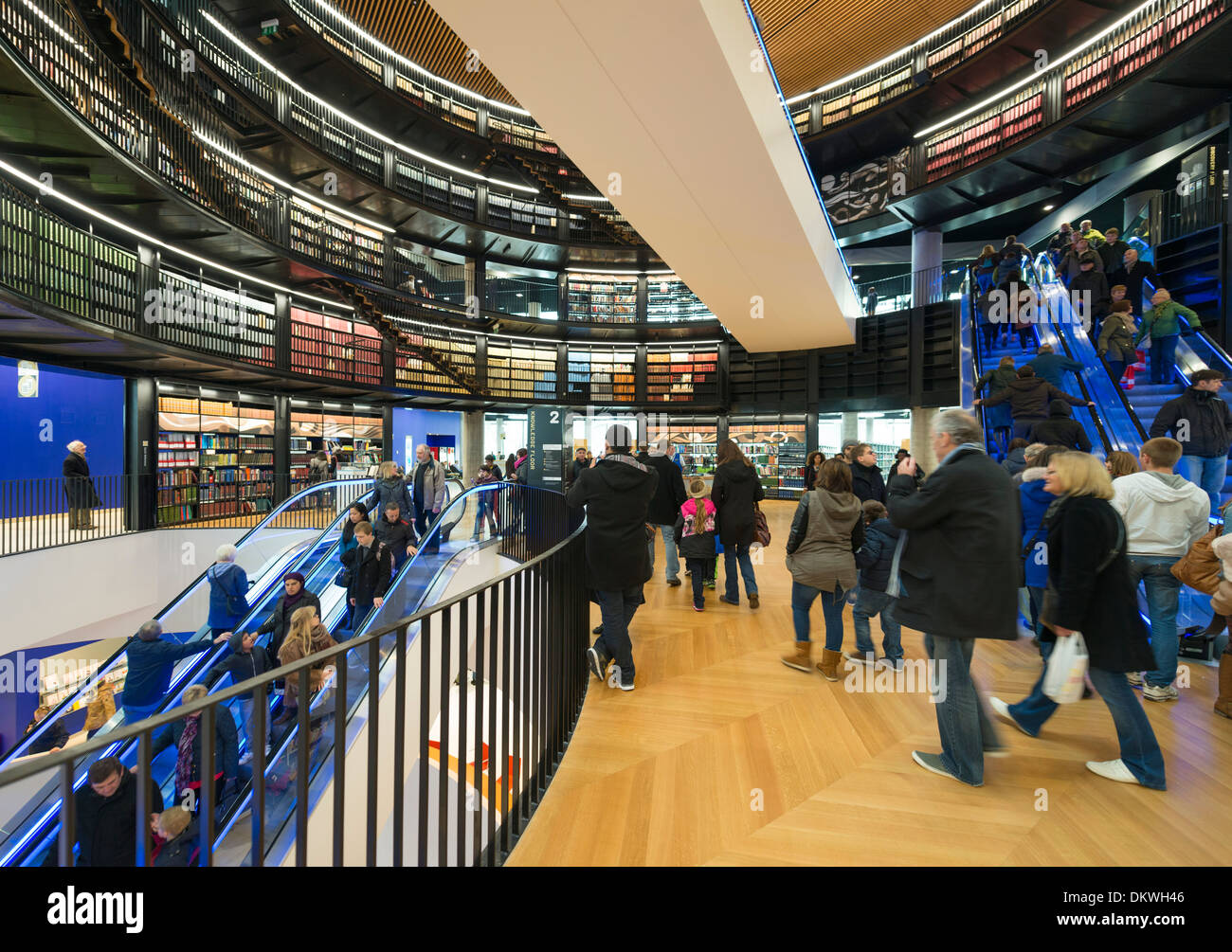 The interior of the new Library of Birmingham, England. - Stock Image