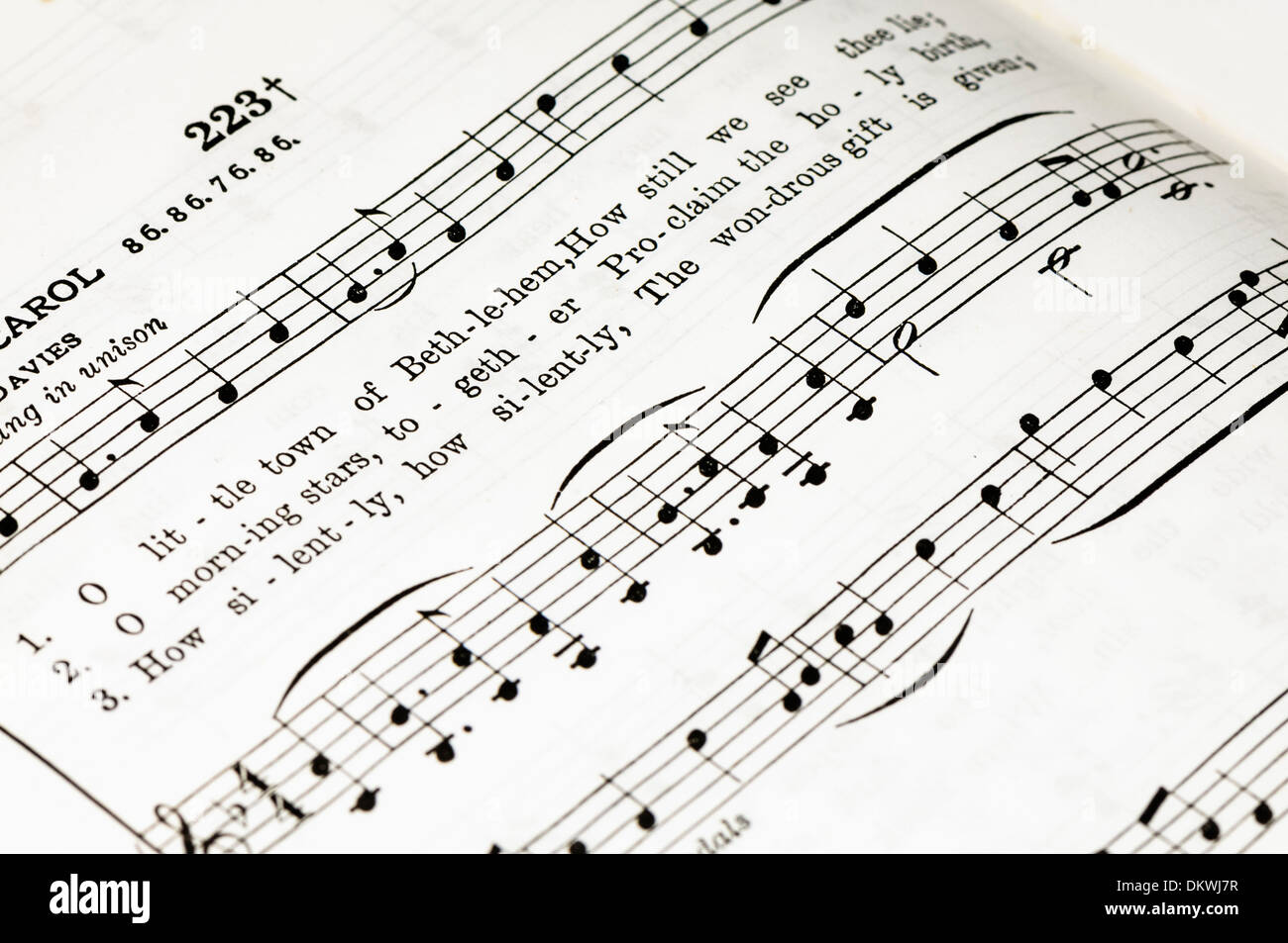 Lyrics Score Stock Photos & Lyrics Score Stock Images - Alamy