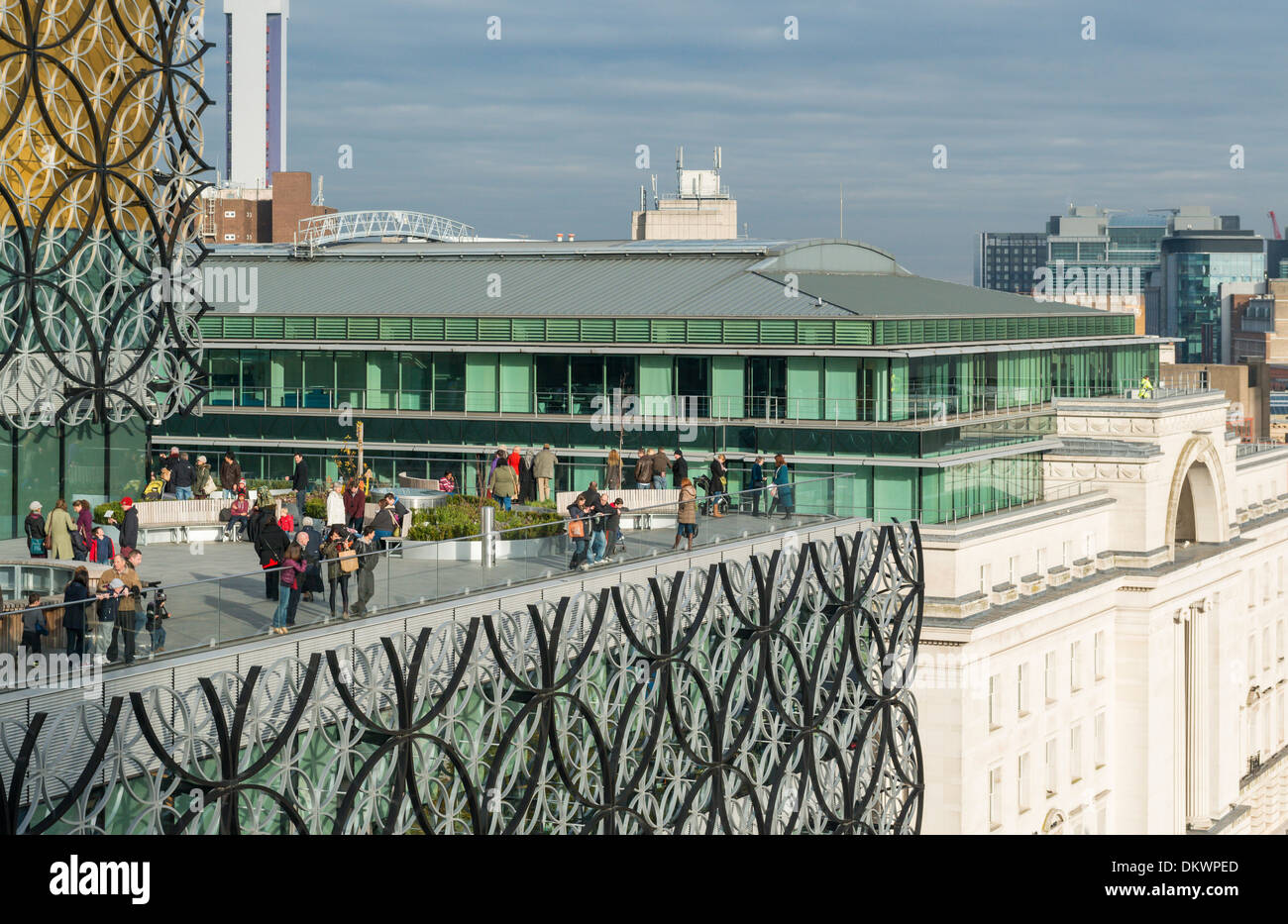The terrace at the new Library of Birmingham, England. - Stock Image