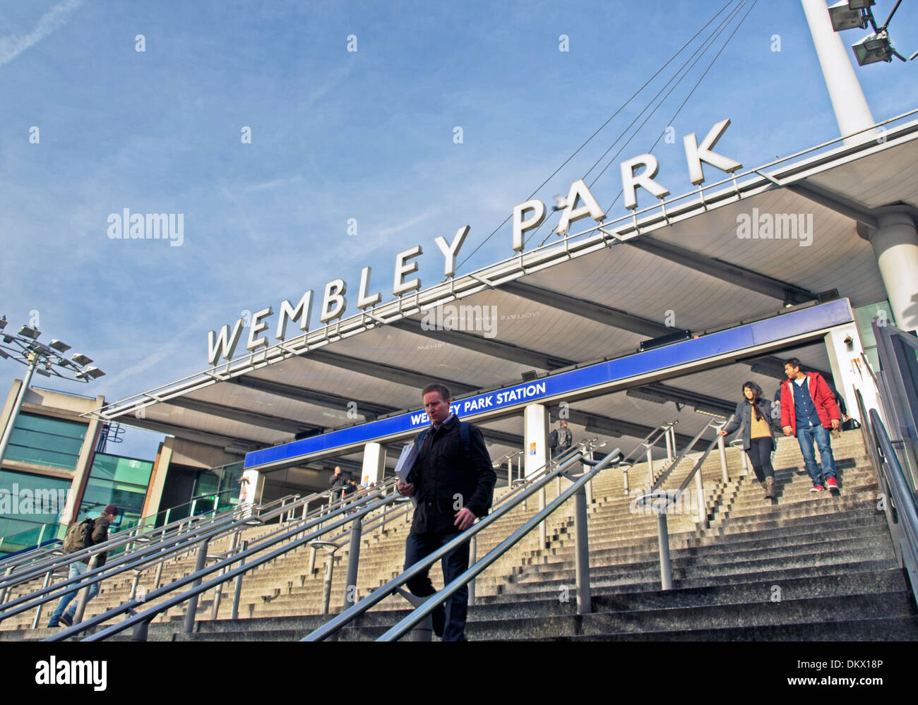 Entrance to Wembley Park Station, London Borough of Brent, London, England, United Kingdom - Stock Image