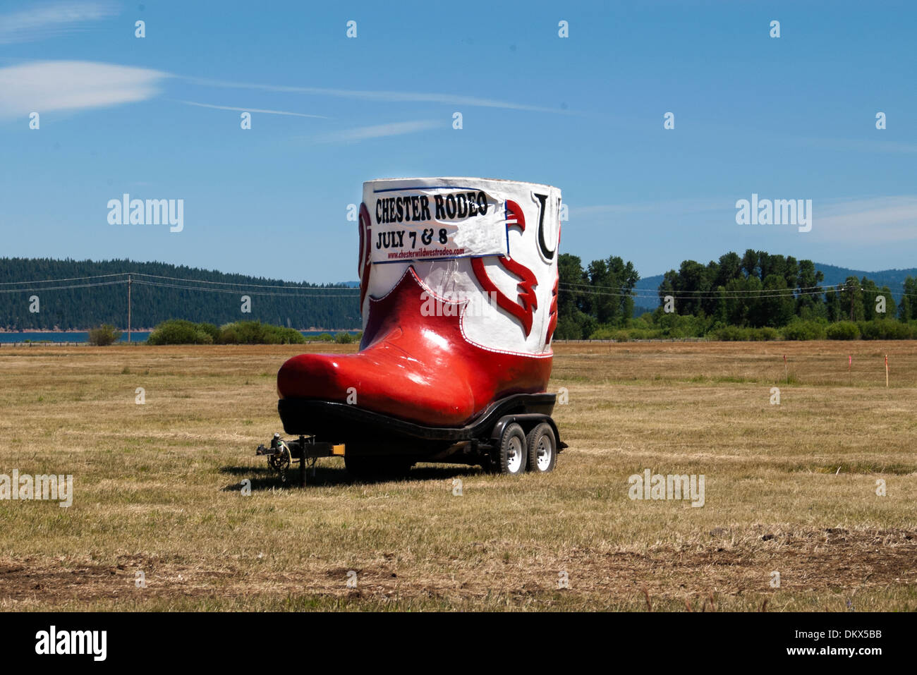 Enormous boot advertising Rodeo - Stock Image