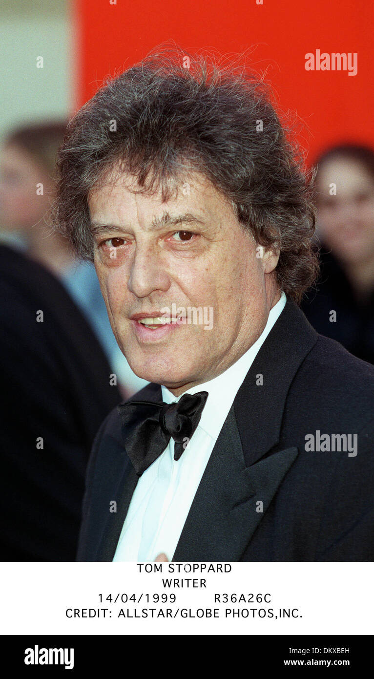 TOM STOPPARD.WRITER.14/04/1999.R36A26C. - Stock Image