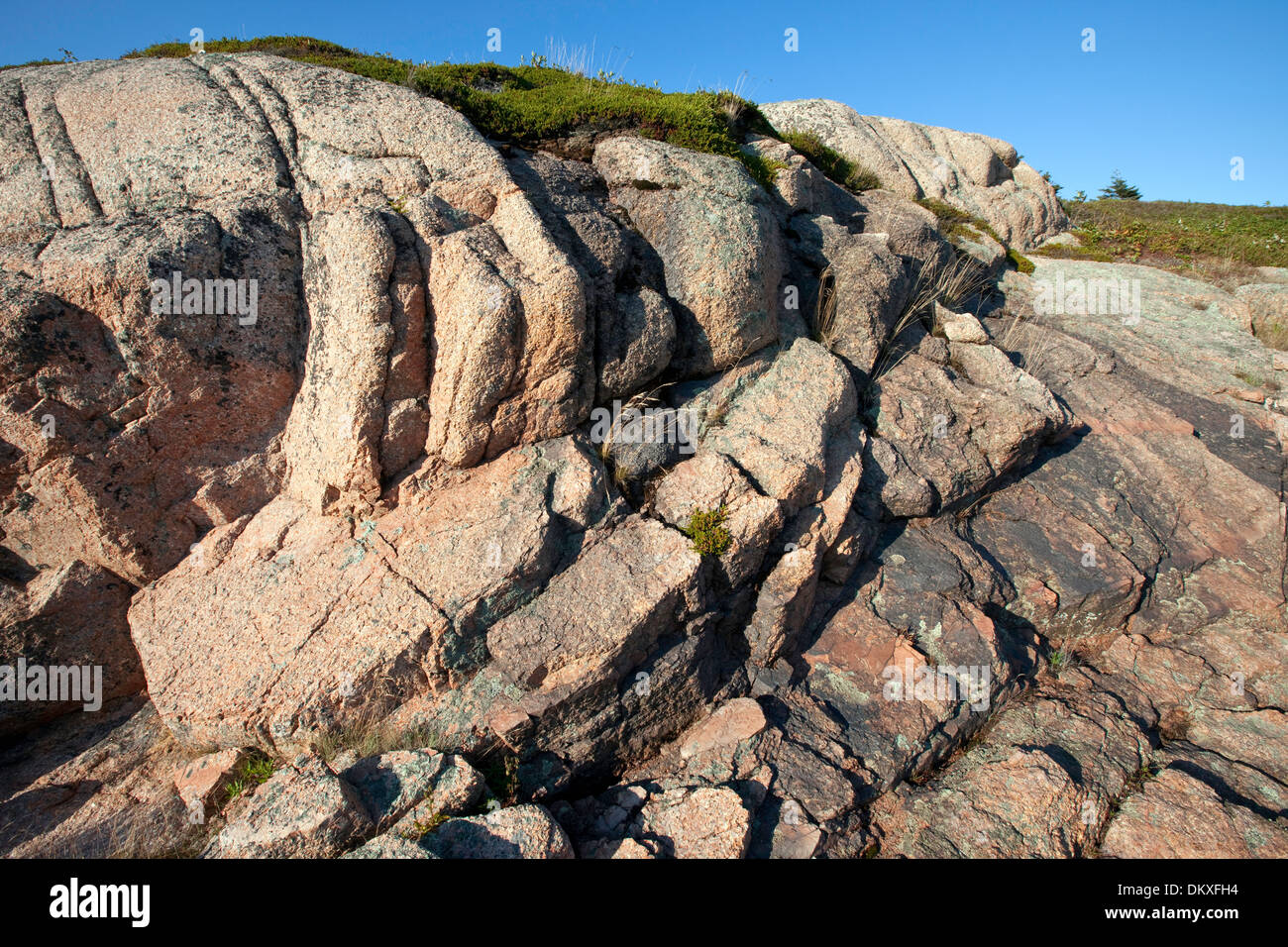 Red granite, Maine - Stock Image