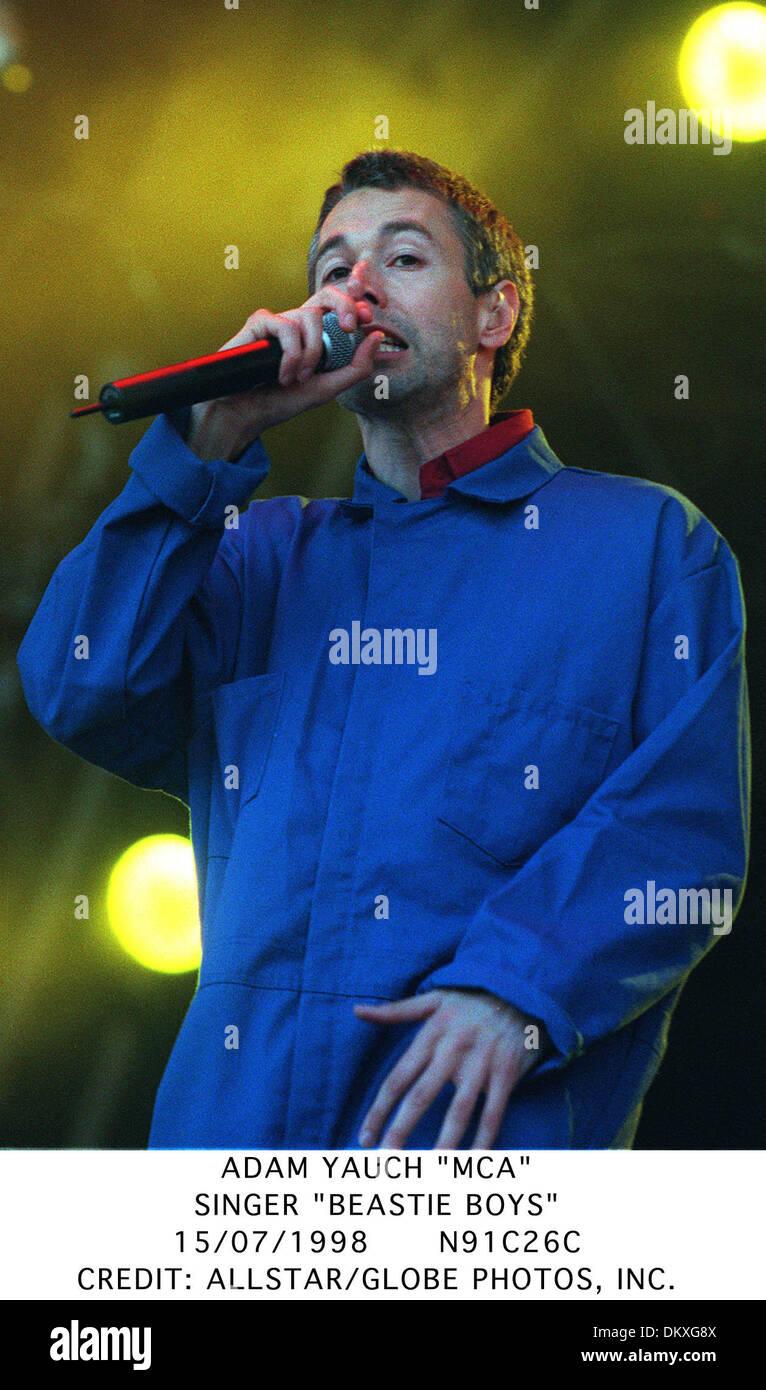 ADAM YAUCH ''MCA''.SINGER ''BEASTIE BOYS''.15/07/1998.N91C26C. - Stock Image