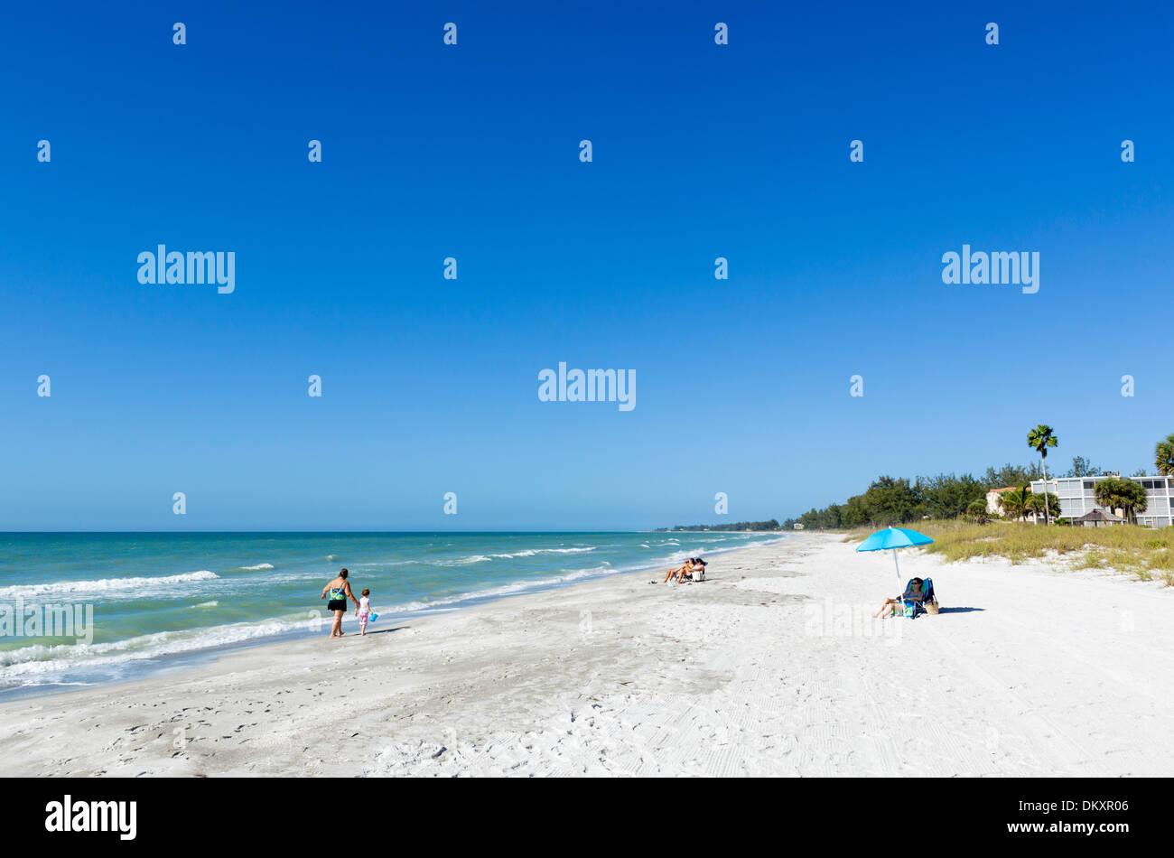 Beach at Longboat Key, Gulf Coast, Florida, USA - Stock Image