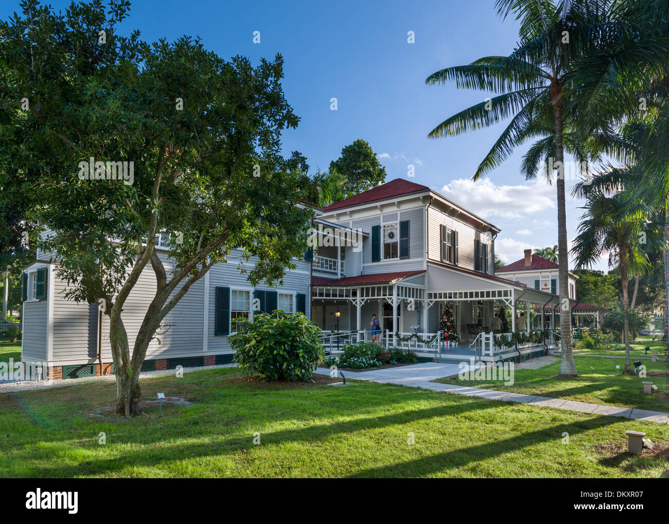 Seminole Lodge, Thomas Edison's winter home, Edison and Ford Winter Estates, Fort Myers, Florida, USA - Stock Image