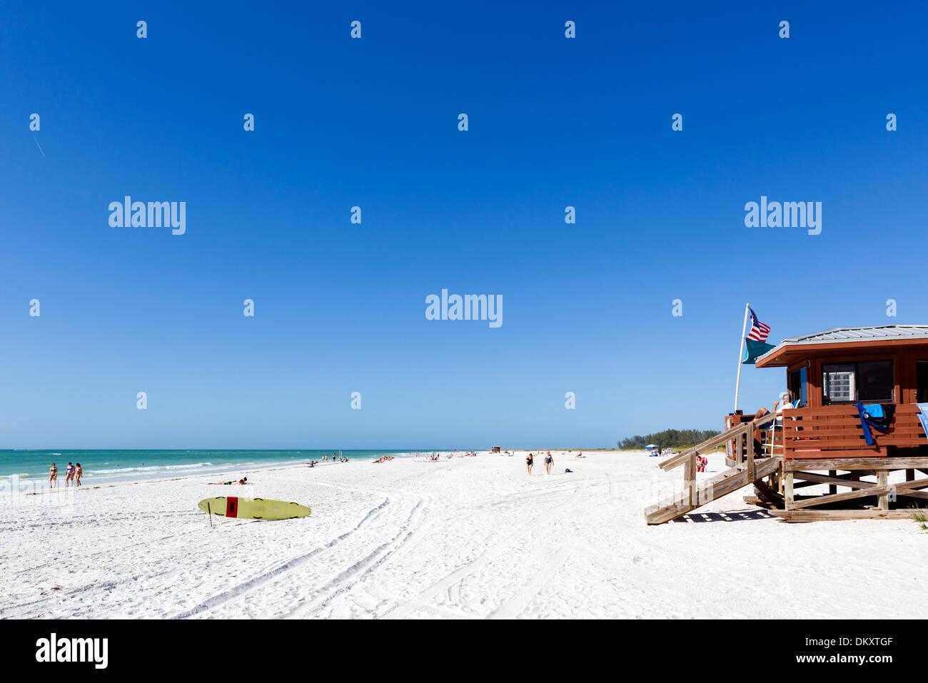 Lido Beach, Sarasota, Gulf Coast, Florida, USA - Stock Image