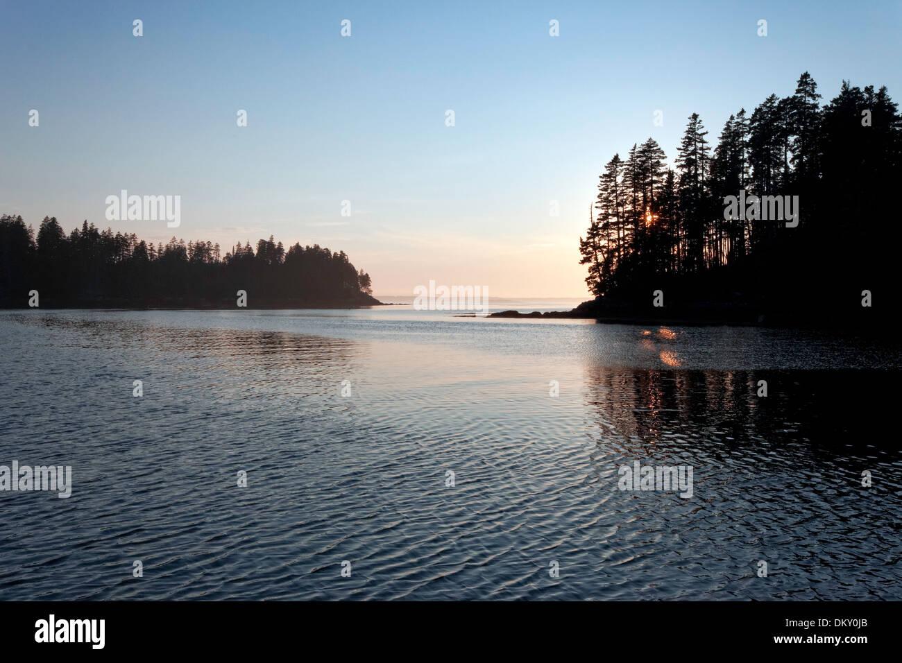Scenic Maine, Roque Island Archipelago, Down East, Maine - Stock Image