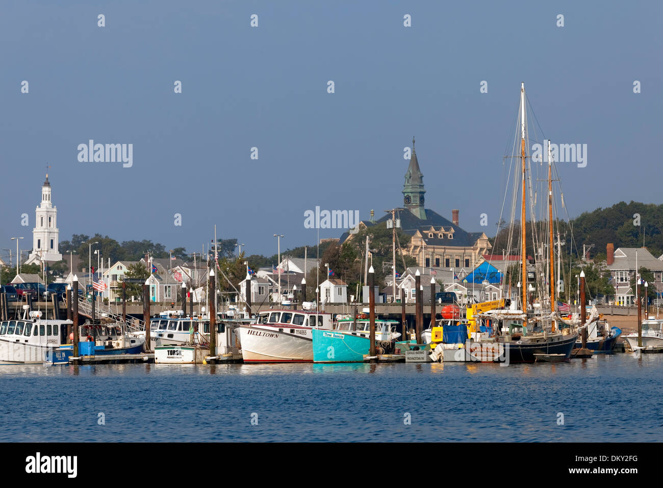 Lobster Boats, Provincetown, Massachusetts - Stock Image