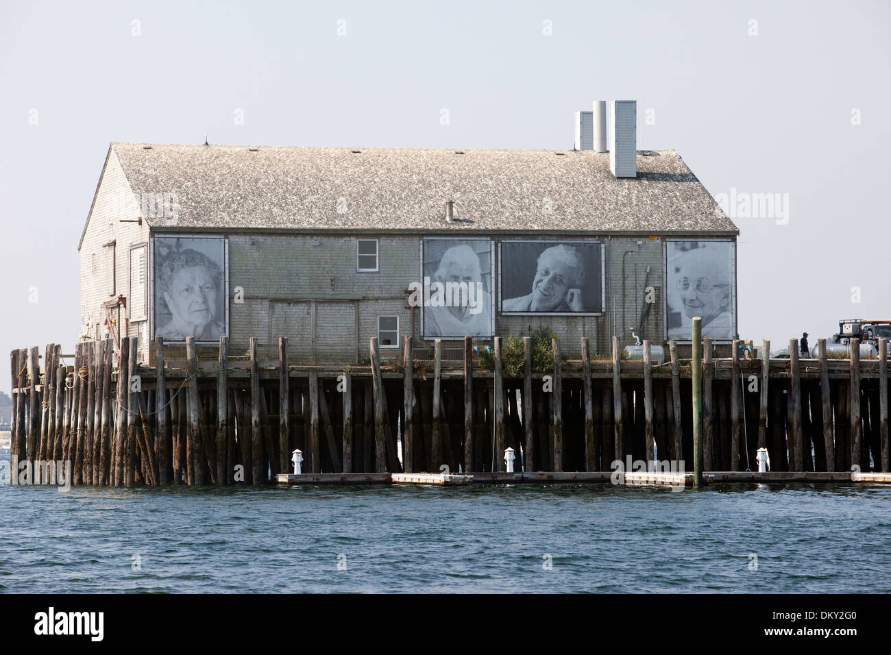 They Also Faced The Sea Art Instillation, Portuguese Women, Provincetown, Massachusetts - Stock Image