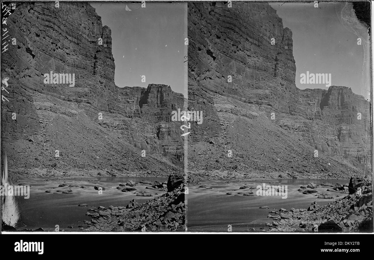 Colorado River. Canyon of Desolation, low water (see also no. 351). Old nos. 348, 357, 792. 517963 - Stock Image