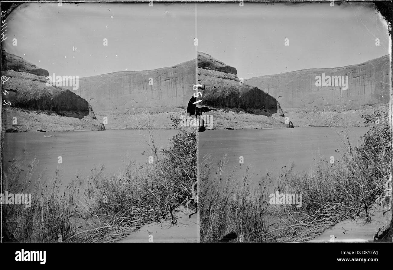 Colorado River. Glen Canyon, high water, 1872. Old nos. 294, 403, 413, 848. 517982 - Stock Image