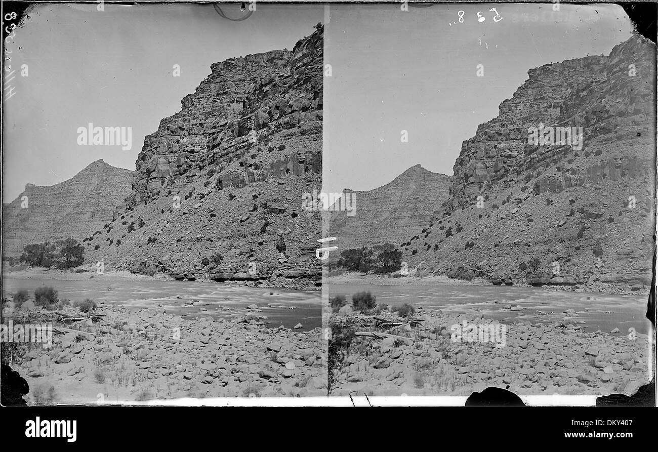 Green River. Canyon of Desolation. Old nos. 353, 1871 - 1878 517859 - Stock Image