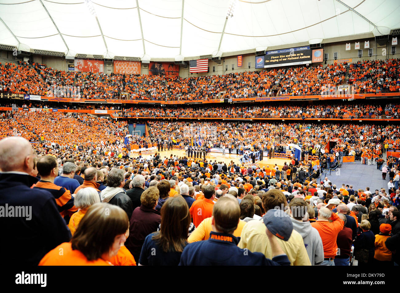 January 23, 2010: Syracuse defeated Marquette 76-71 in a  Big East Conference match up at the Carrier Dome in Syracuse, - Stock Image