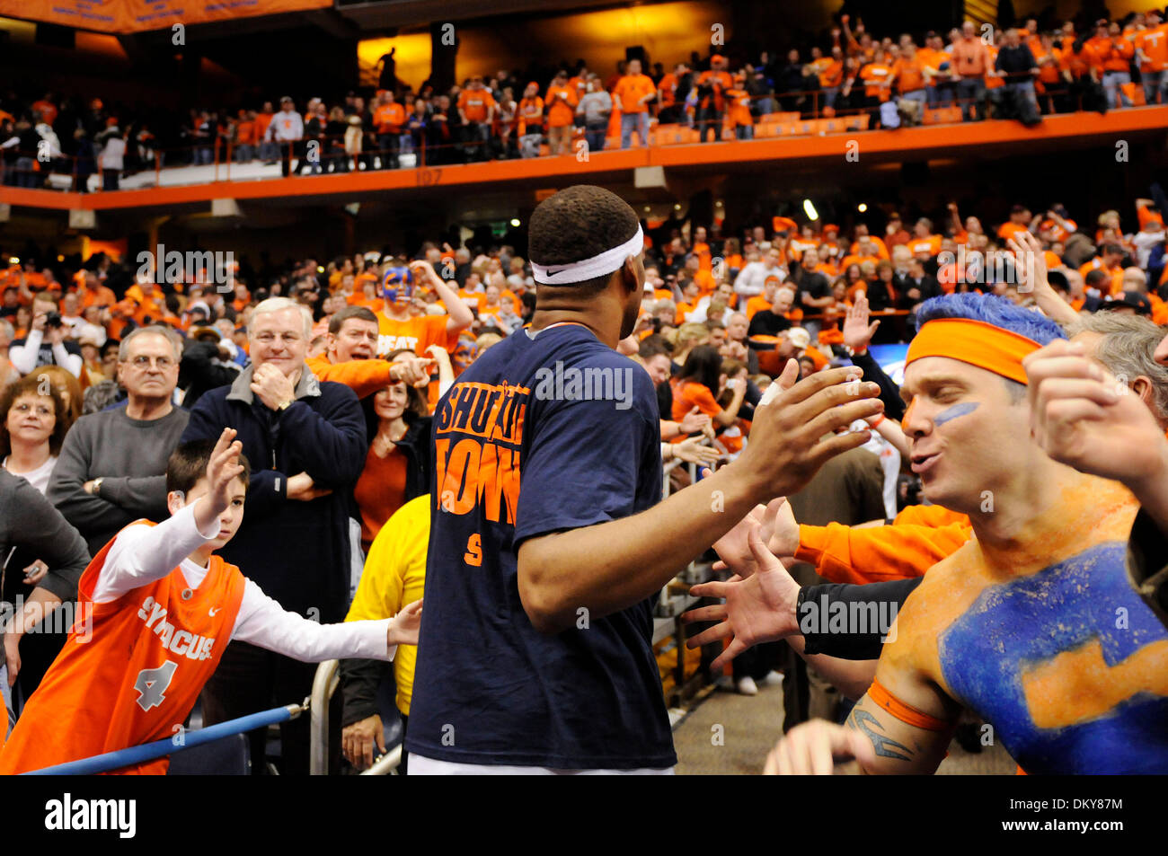 February 27, 2010: Syracuse defeated Villanova 95-77  in a  Big East Conference match up at the Carrier Dome in - Stock Image