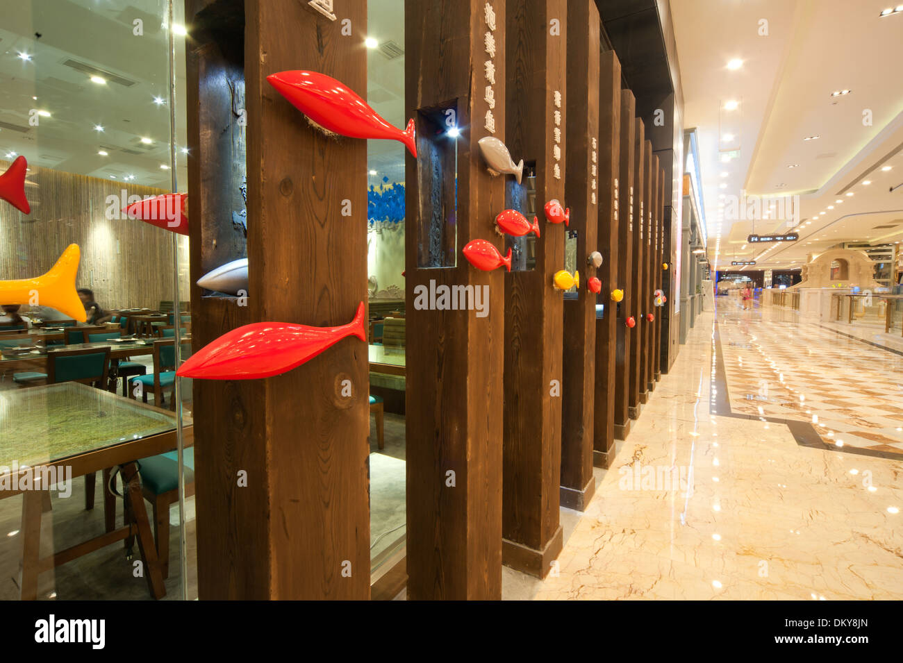 High-end restaurant decoration - Stock Image