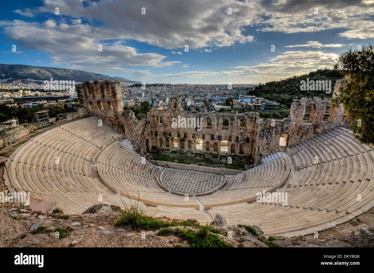 odeon herodes atticus - Stock Image