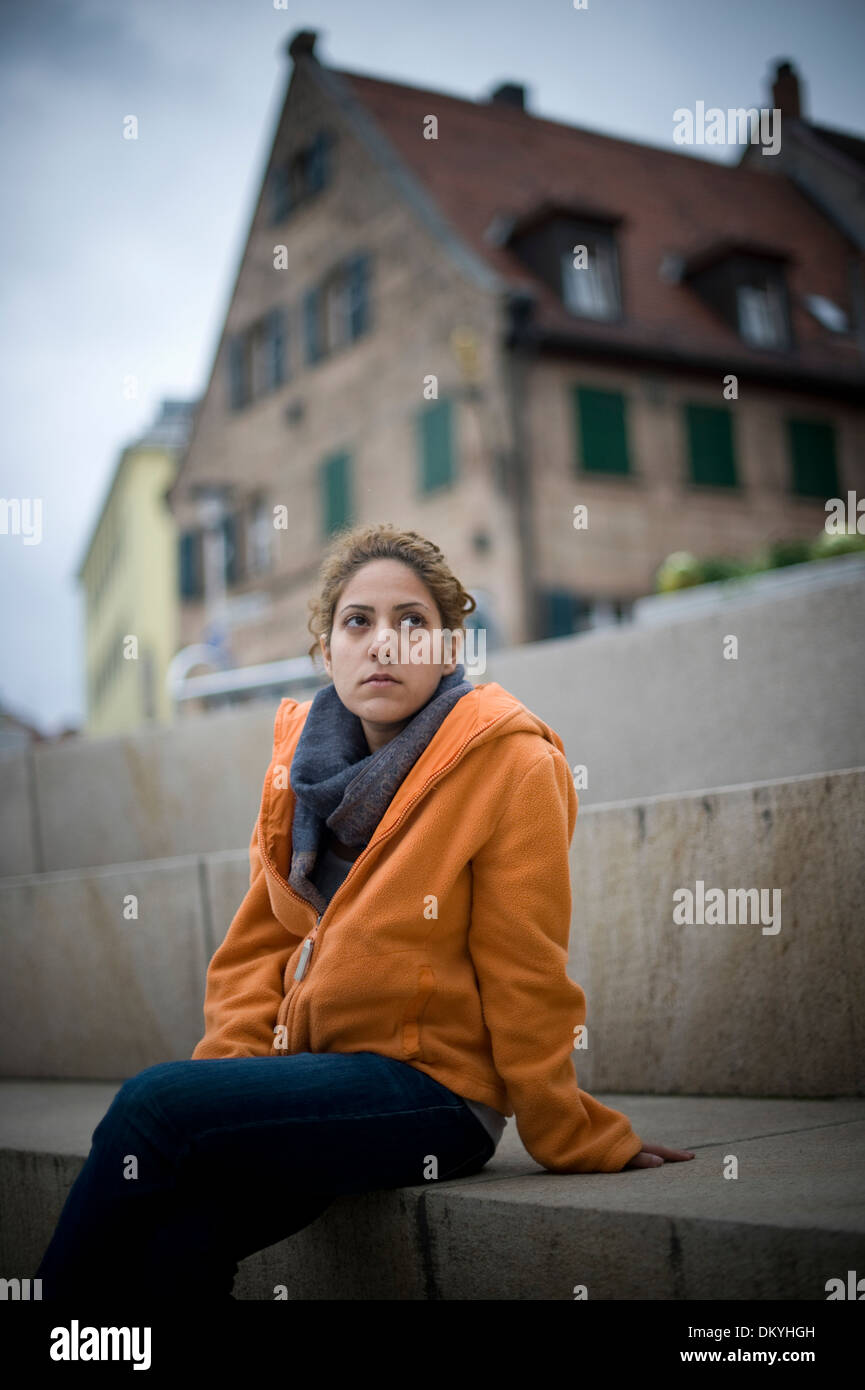 Iranian Asylum Seeker Narges Kalhor is an Iranian film director and daughter of Mehdi Kalhor a Senior Advisor to Iran. - Stock Image