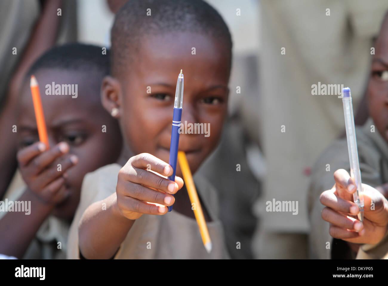 Schoolchildren. Primary School Adjalle. - Stock Image
