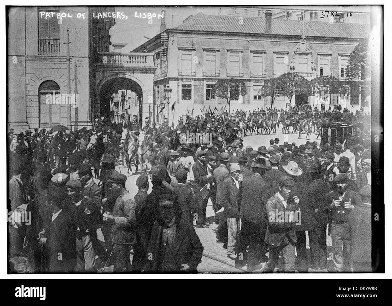 Patrol of Lancers, Lisbon (LOC) - Stock Image