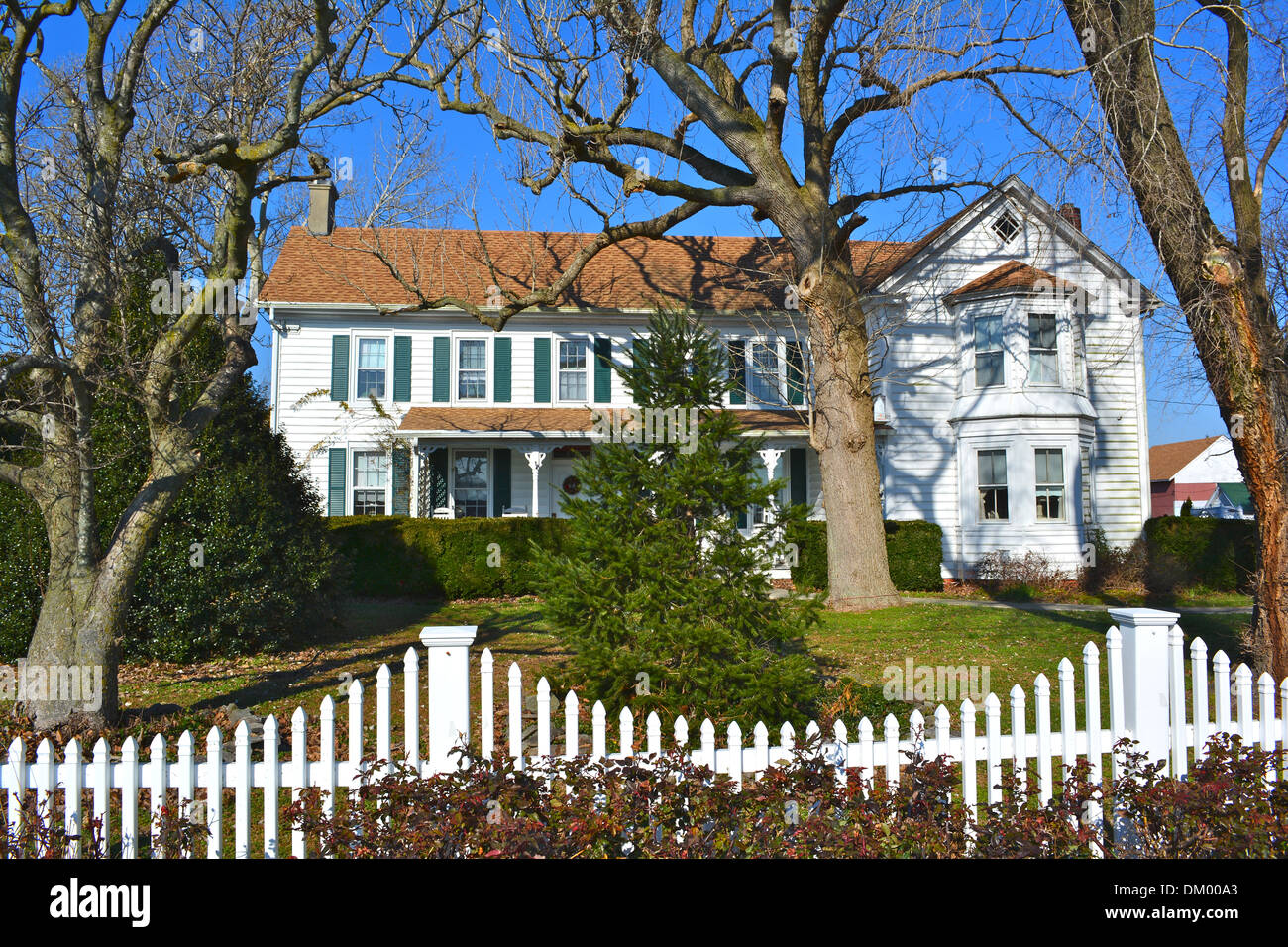 David Robbins Homestead, listed on the NRHP on January 2, 2013. Located at 26285 Broadkill Rd., near Milton, Sussex County, Dela - Stock Image